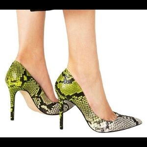 Zara ombré snakeskin leather heels pumps - Rare